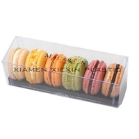 Manufacturer of transparent plastic macarons packaging box,custom pet box for macarons,macarons packaging