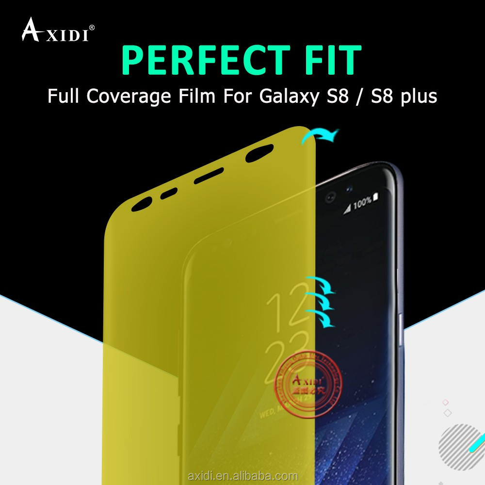 Full Cover 3D Curved TPU Film Case Screen Protector for Samsung Galaxy S8 Plus