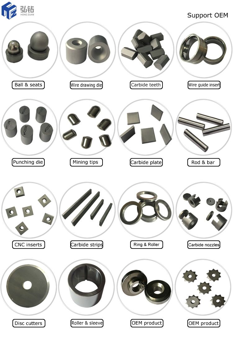tungsten carbide cone ring and wear parts for wire drawing machine