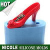 R1328 Nicole factory silicone soap molds high heel shoes