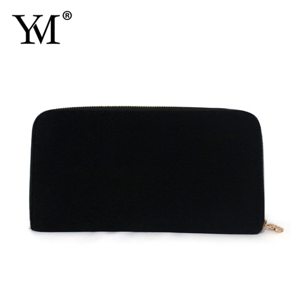 high quality Black Travel velvet leather women Purse bag