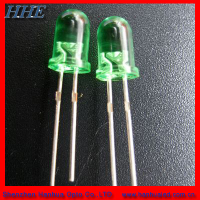 3mm green round dip led diode light with ceramic resistor