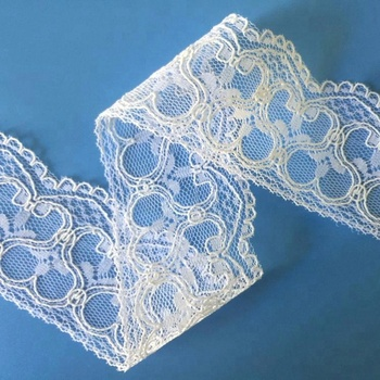 Nylon Corded Bridal Lace Trim For Garment, Curtain and Decoration