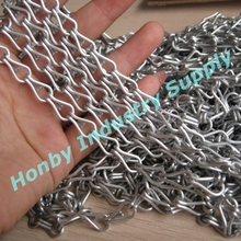 9mm Matt Silver Double Jack Aluminum Link Chain
