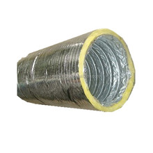 fire resistance double layer aluminum flexible insulated foil duct