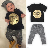 2016 New Design 100% Cotton Baby Suit 0-12Months Childrens T-shirt and Pants