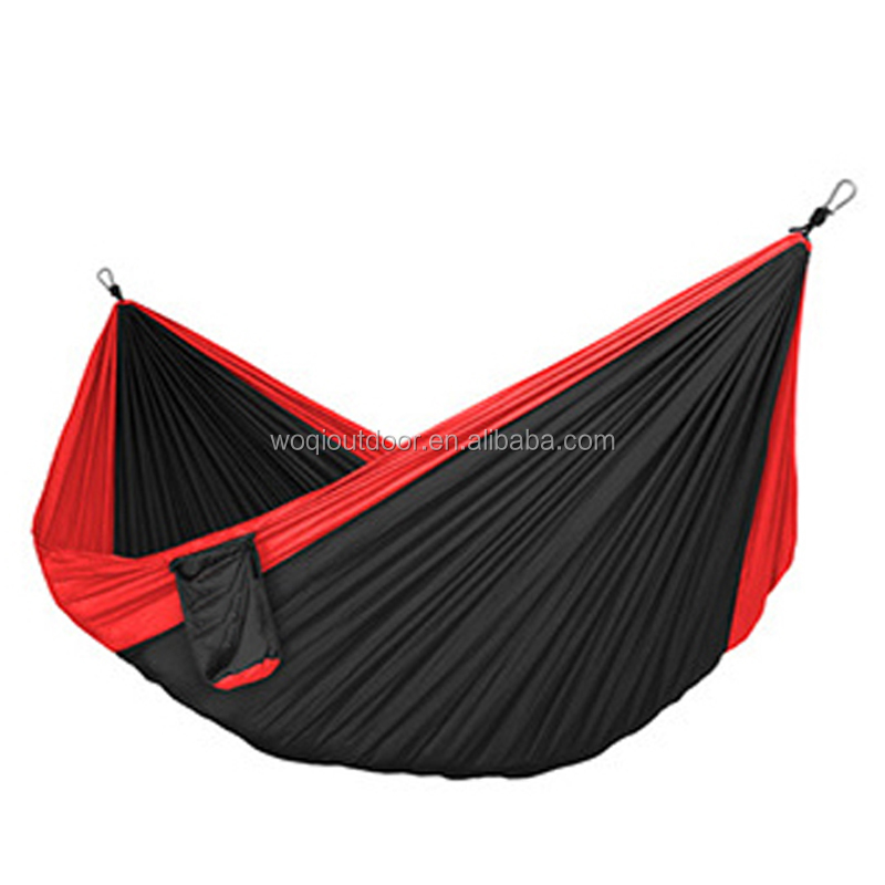 Woqi Outdoor Camping Nylon Hammock, Portable lightweight Parachute Hammock with tree straps and Carabiners