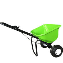 Plastic broadcast farm and garden seed spreader