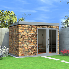 High quality rock wall beautiful luxury prefab cabin shower