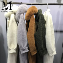 Cashmere Long High Fashion Womens Winter Coat Wholesale Young Lady Alpaca Coat