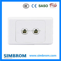 2 G 4 core Tel socket, electrical tel sockets and switches,smart home electrical wall switch