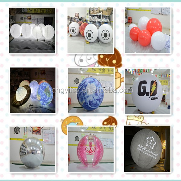 Giant Inflatable Mid-Autumn Festival Decoration Balloon LED Lighting Balloon For Advertising