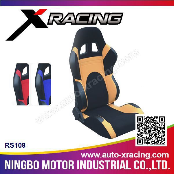 XRACING RS108 car bucket seats, upholstery leather car seats, swivel car seat