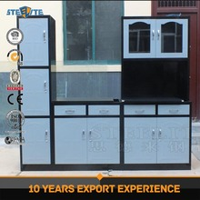 Cheap Steel Kitchen Cabinets / Kitchen Cabinet Design / Metal Kitchen Furniture