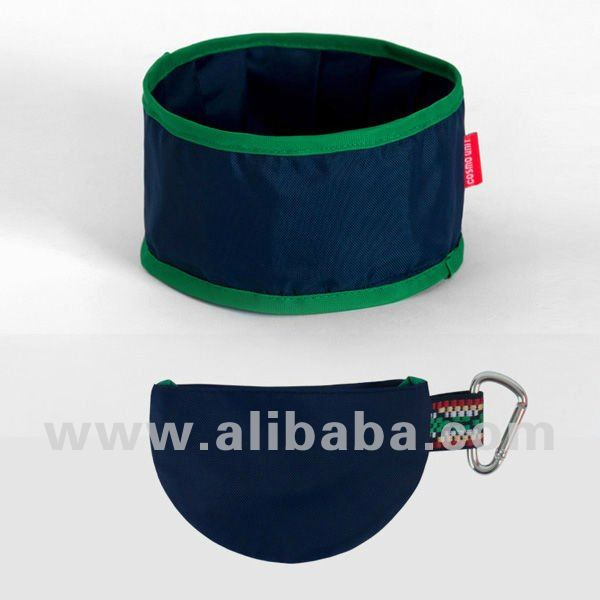 Folding bowl for dogs (Navy) - Dog bowl Pet bowl Pet Clothes Dog Picnic Item