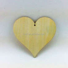 wholesale laser cut unfinished wooden heart decoration