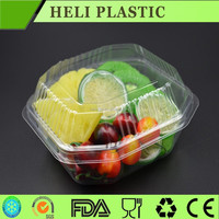 biodegradable clear/transparent fresh-cut fruit and vegetable plastic tray/box