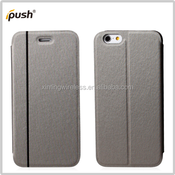 Factory stand flip leather Case for iphone6