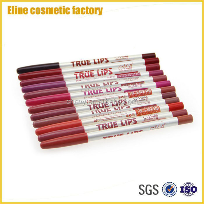2017 Hot Selling Lip Liner Pencil 12pcs/ Set