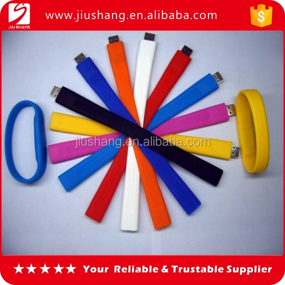 New design silicone usb storage drive bracelets with different color choice