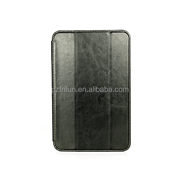 Black folio style tablet leather case for lenovo a5500 8 inch