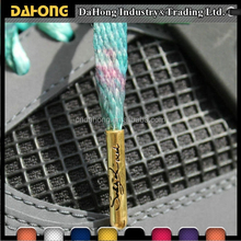 colorful flower printing flat custom metal aglet printed shoelaces