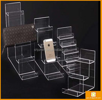 acrylic desktop wallet and purse display stand