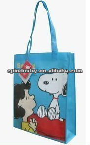 2014 Snoopy Handle Non-Woven Shopping Bag