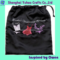Custom Lingerie pouch Laundry bags drawstring bag cotton