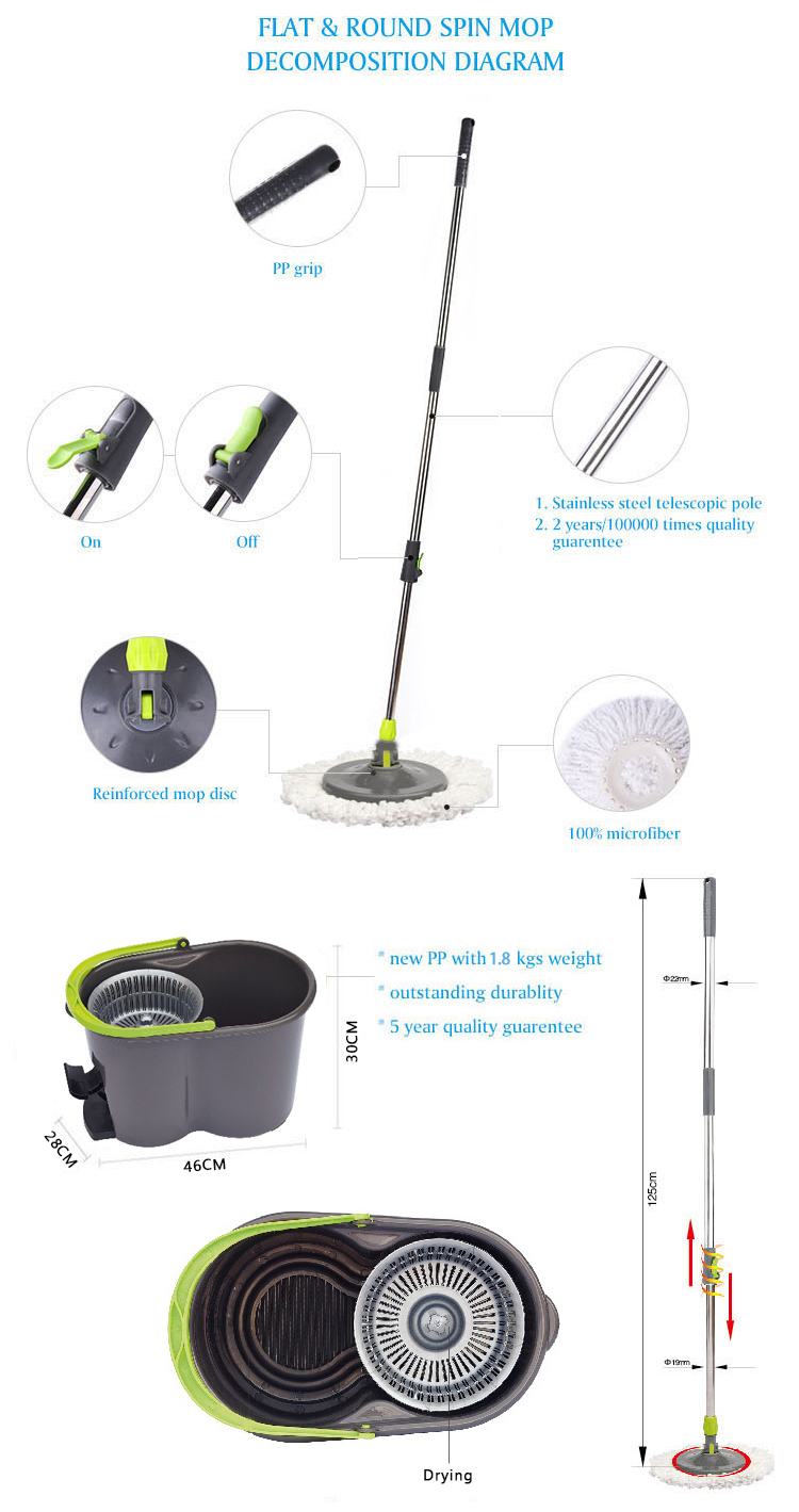 high quality classic rotary mop with pedal