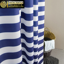 fancy shower curtains,blue and white strip shower curtain,polyester bathroom curtain
