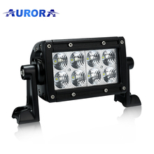 Aurora luminosità IP69K 4 pollice doppia fila auto off road light bar atv parti