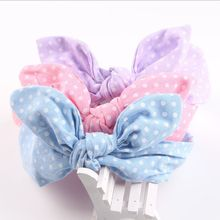 Children Hair Accessories Lovely Bunny Ear Baby <strong>Headbands</strong> Elastic Fashion Soft Toddler scrunchy Bow Knot Girls <strong>Headband</strong>