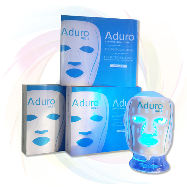 Aduro blue led face mask, anti acne electricity led facial mask