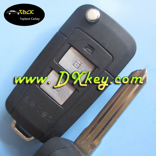 2 button car flip key shell/flip key remote for hyundai santafe key