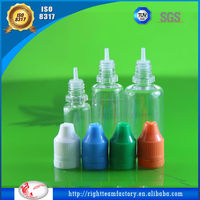 ISO 8317/SGS/TUV e liquid dropper bottle empty pet dropper bottle flavored e-cigarettes smoke oil