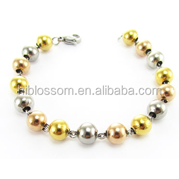 made in China fashion style stainless steel ball bracelet