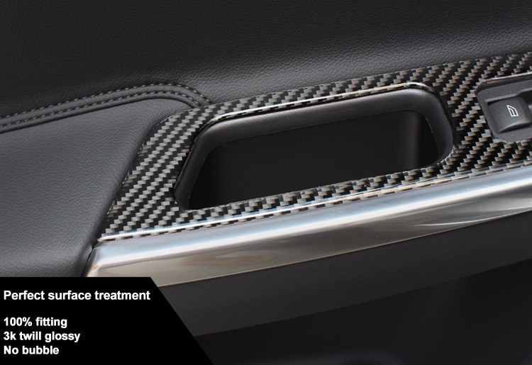 Top quality Custom 100% Genuine Glossy/matte carbon fiber car interior door trim for Volvo