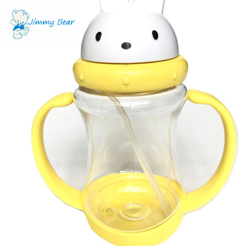 180ml 6oz plastic wide mouth baby cup with handles