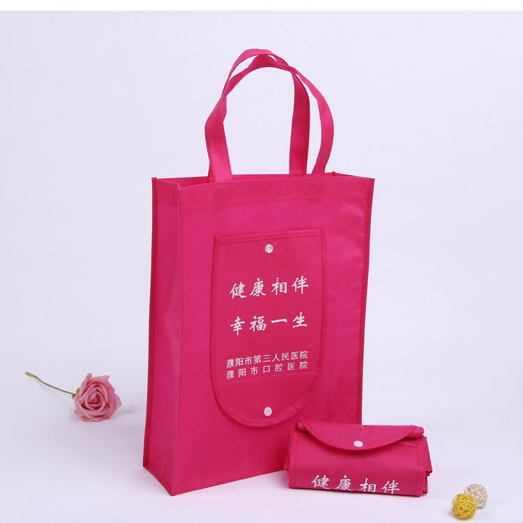 Foldable Style Reusable Eco Non Woven Shopping Tote Wallet Bag