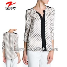 Contrast panels printed latest blouse designs 2013