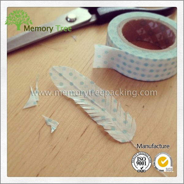 Dot print cotton poplin print paper decoration decorative tape