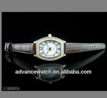 2013 leather watch band, gems and tones studded oblong watch, royal and character watch