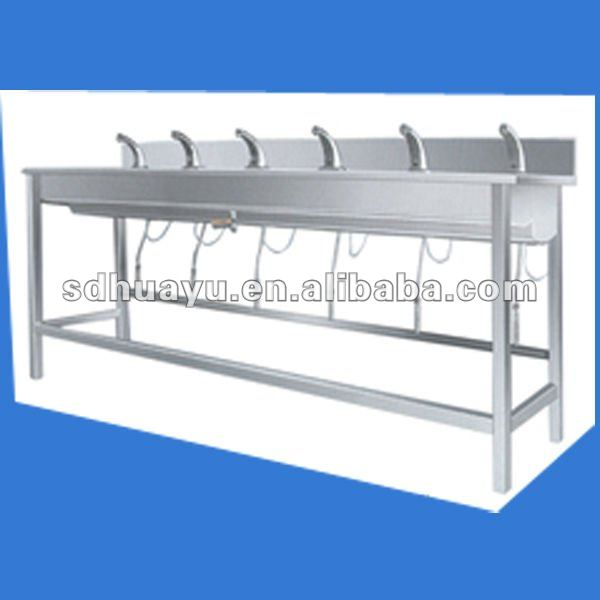stainless steel wash trough inductive hand-washing and disinfection trough