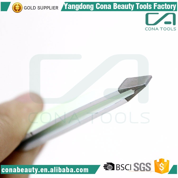 Professional square tip anti-static stainless steel eyebrow tweezer manufacturer