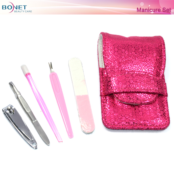 BMS0356 Travel Oval Style Make-up Nail Manicure Set