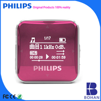 Philips Cheap Promotion Mp3 Player Mirror Mini Clip Potable Mp3 with Tf Card Slot