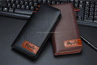 2015 new season western genuine leather long men wallet wholesale