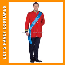red medieval prince suit costume PGMC0911