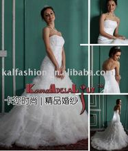 EB702 top design embroidery lace soft tulle mermaid Wedding dress